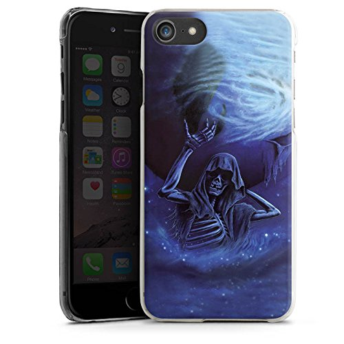 Apple iPhone X Silikon Hülle Case Schutzhülle Skull Bones Totenkopf Hard Case transparent