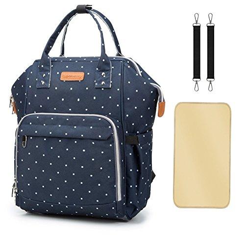 Preisvergleich Produktbild Wickeltasche Rucksack - Multi-Funktions-Wasserdichte Mutterschaft Wickeltaschen für Reisen mit Baby - Große Kapazität, Langlebig und Stilvoll(Blau)