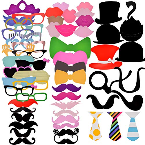Tofree Hochzeit Photo Booth Requisiten, für Party Favor, Party Supply,Streik A Pose Sign, Moustache, Woman,60 Stück