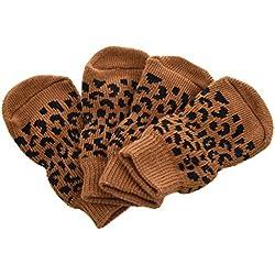 Mascota Calcetines antideslizantes - SODIAL(R) Proteccion de pata del gato Calcetines antideslizantes del gato perrito XS