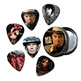 Neil Young Set of 6 Loose Guitar Médiators in Tin ( Collection B )