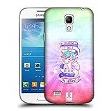 Head Case Designs Tupfer Einhorn Power! Ruckseite Hülle für Samsung Galaxy S4 Mini I9190