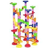 Peradix Juego Pista de Canicas con Bolas de colores 105 piezas