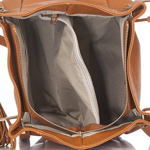 Laura Moretti - Borsa in pelle con pom pom Leather