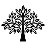 Laser-Kunststoff-Schablone, DIN A4, Baum | Kreative Wandgestaltung, Textilien, Papier, Scrapbooking