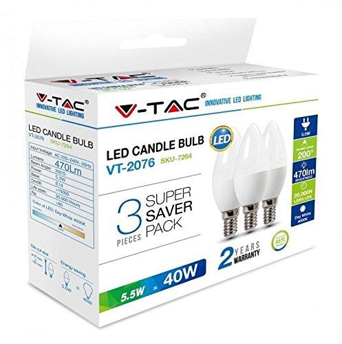V-TAC Bombillas LED Vela E14