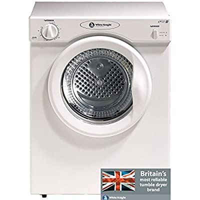 White Knight C38AW Freestanding Front-Loading 3kg White Tumble Dryer, Energy Rating C. from White Knight