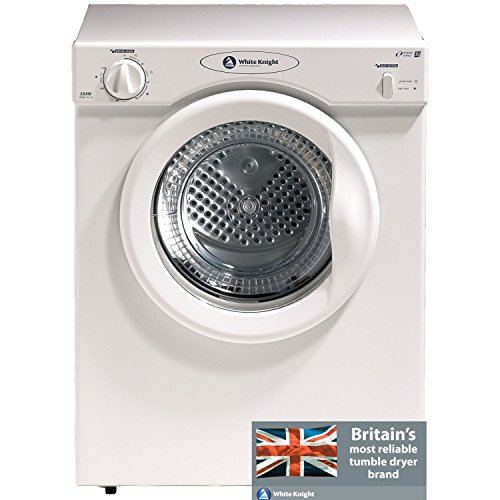 51XPCFhPiAL. SS500  - White Knight C38AW Freestanding Front-Loading 3kg White Tumble Dryer, Energy Rating C.