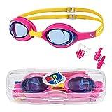 KidSwim Schwimmbrille für Kinder (Alter 4–12), kein Auslaufen, wasserdicht, mit Anti-Beschlag-Linse und weichem Silikon-Band