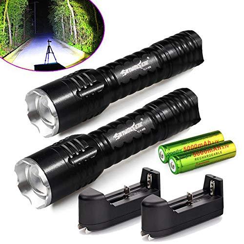 iederaufladbare taktische Q5 LED-Taschenlampe +18650 Akku & Ladegerät ()
