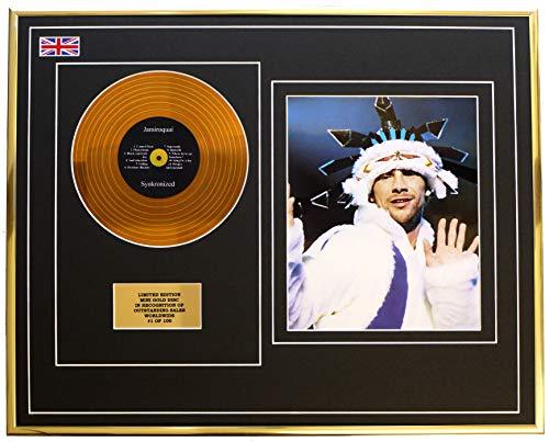 Everythingcollectible Jamiroquai/Mini Metal Gold Disc & Photo Display/ÉDITION LIMITÉE/COA/SYNKRONIZED