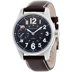 Hamilton Khaki Field Officer Handwinding - Reloj (Reloj de pulsera, Masculino, Acero inoxidable, Acero inoxidable, Cuero, Marrón)