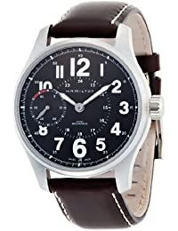 Hamilton H69619533 - Reloj analógico automático para hombre, correa de cuero color marrón