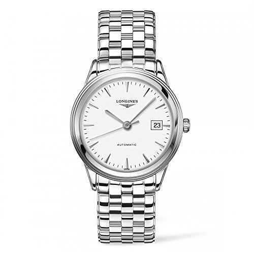 Longines Les Grandes Classiques de Longines Flagship / orologio uomo / quadrante bianco / cassa e bracciale in acciaio