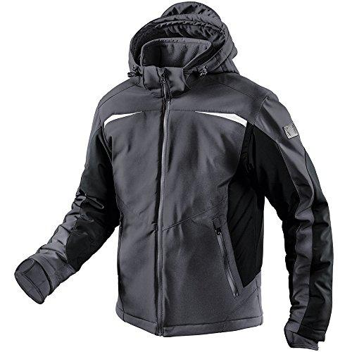 KÃœBLER Winter Softshell Jacke Form 1041 anthrazit/schwarz Gr. L 96% PE/ 4% EL