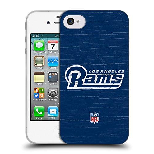 Offizielle NFL Unschärfe Los Angeles Rams Logo Soft Gel Hülle für Apple iPhone 6 / 6s Verzweifelt