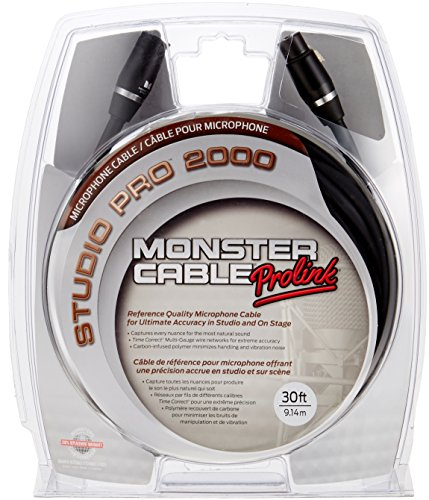 Cable Monster Sp2000 (Monster Cable SP2000-M-30 XLR Male auf XLR Female Instrumentenkabel (9 m))