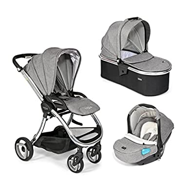 Tutti Bambini Arlo Chrome Travel System - Charcoal