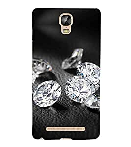 Diamond Crystals 3D Hard Polycarbonate Designer Back Case Cover for Gionee Marathon M5 Plus