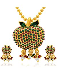 Sukkhi Amazing Gold Plated AD Pendant Set For Women