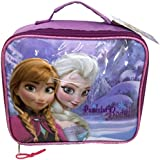 New Girls/Childrens Blue/Purple Frozen Lunch Bags With Zip Top Closure - Blue/Purple - UK SIZES 1-1