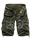Menschwear Herren Vintage Cargo Shorts Bermuda Kurze Hose Sommer Kurze Hose (31,Camouflage 7)
