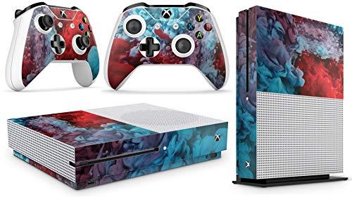 Gizmoz n Gadgetz GNG Adesivi in Vinile per Xbox One S con Il Logo di Colour Explosion per Console E per 2X Controllers