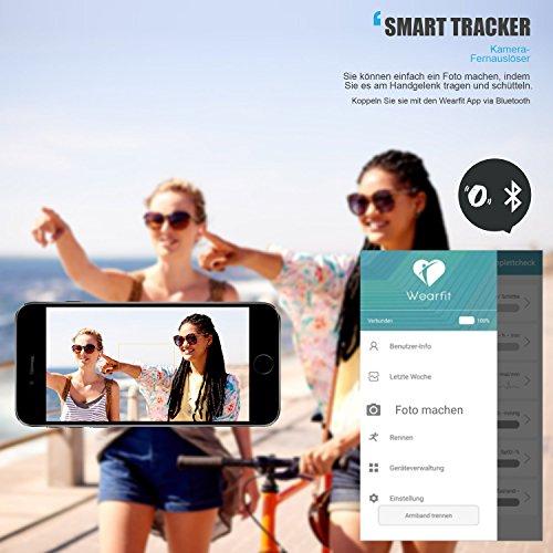 Fitness Tracker - VOEONS - Fitness Armband - IP67 Wasserdicht Blau Sportuhr - Smart Armband mit Schlafmonitor, Schrittzähler, Pulsmesser, Kalorienzähler für iOS / Android Smartphones -