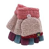 Pormow automne et hiver les étudiants écrivent des gants chauds mitaines tricotées...