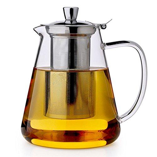 PluieSoleil Teekanne mit Filter Große Teekanne mit hitzebeständigem Edelstahl-Infuser Perfekt für Tee und Kaffee-750ml Teekanne Tee Infuser