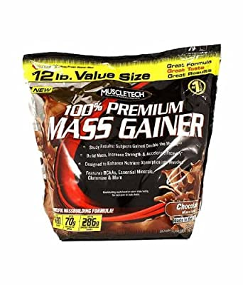 100% Premium Mass Gainer, Chocolate - 5400g whey protein mass growth muscle gain mass building bodybuilding gainer carbohydrates by MuscleTech M by MuscleTech