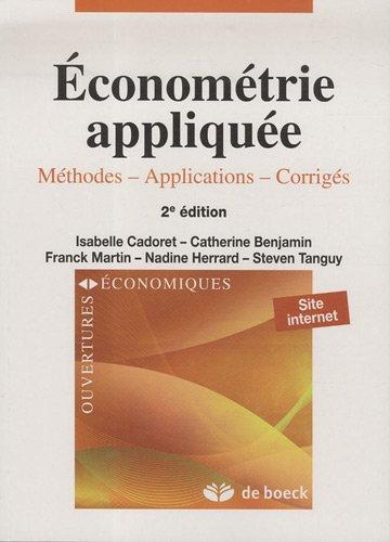 Economtrie applique : Mthodes, applications, corrigs