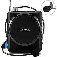 XIAOKOA Amplificador de voz estable con micrófono de auricular Mini altavoz portátil megáfono Soporte FM Radio MP3 Player Soporte TF/SD Card (N201)