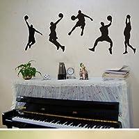 Decalcomanie Decalcomanie Sport giocare a basket Racer pallacanestro Slam Dunk Wall Sticker Adesivo Casa Decor Art Mural Bambini Ragazzi Ragazze Bambini Camera da letto della decorazione DIY Regalo di compleanno regalo fai da te Vinile poster stampa Quotes Adesivi da Parete