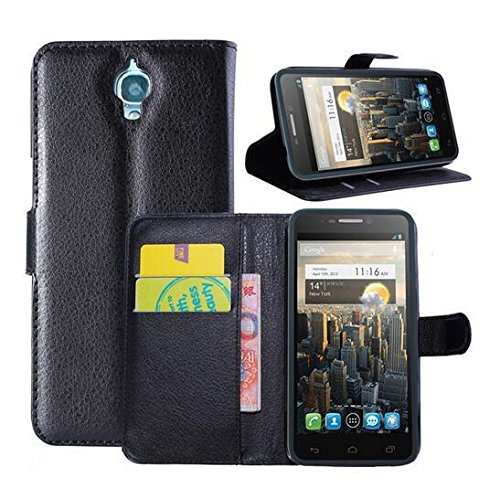XMY Colour Black Wallet Holder Leather Leder Pouch Case Cover Fall-Abdeckung For Alcatel One Touch idol OT-6030 new