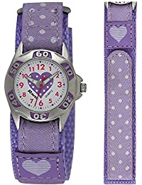 Ravel Kinder-Armbanduhr Ravel Girls Polka Dot Velcro Watch Analog Kunststoff mehrfarbig R1507.23