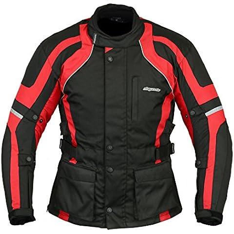 rksports impermeable motocicleta moto chaqueta negro CE Armors