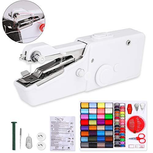 Litthing Tragbare handnähmaschine Mini Handheld Nähmaschine Elektrische Handnähmaschine Manuelle Werkzeug Schneller Handlicher (Heim/Reisenutzung)
