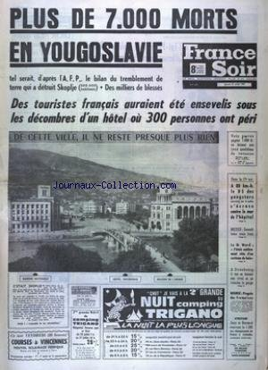 FRANCE SOIR 8 EME COURSES BOURSE du 27/07/1963