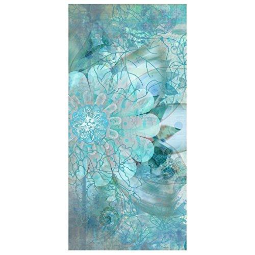 Raumteiler Top Raumtrenner Winterblumen 250x120cm + Magnet. Aluminiumhalterung