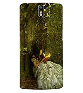 ColourCraft Cute Girl Design Back Case Cover for OnePlus One