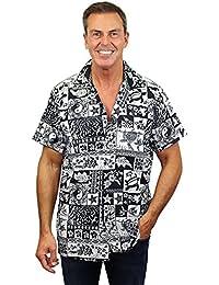 Original King Kameha | Funky Hawaiian Shirt | Men | XS-6XL | Short-Sleeve | Front-Pocket | Hawaiian-Print | Puzzle Traditional | Multiple Colours