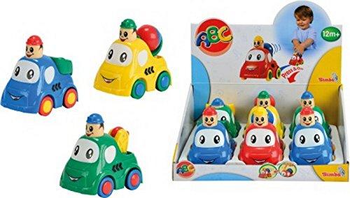 SIMBA DICKIE Press and Go Auto ABC, 3f. sort. 4006592495169