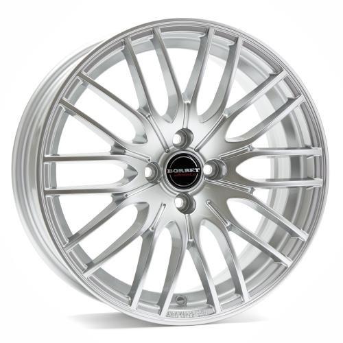 Borbet CW 4 sterling silver 8x18 ET40 5.00x115 Hub Bore 70.20 mm - Alu felgen