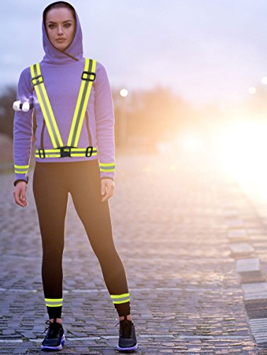 runesol-reflective-vest-4-arm-leg-bands-set-yellow-high-visibility-set-of-unisex-reflective-waist-be