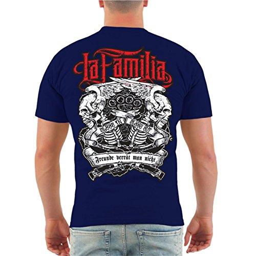 Männer und Herren T-Shirt Viva La Familia (mit Rückendruck) Größe S ...