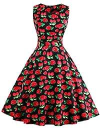 Dissa M1396 Damen Rockabilly 50er Vintage Retro Kleid Partykleider Cocktailkleider