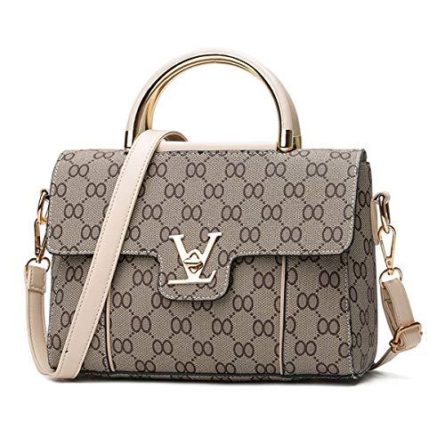 Kleine Tasche Damenmode Gedruckt Buchstaben Handtasche Frauen Rucksack Tragbare Alte Blume PU Weibliche Tasche Mamabeutel Eine Schulter 25 * 12 * 17cm (9, 25 * 12 * 17 cm)