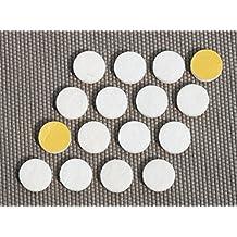 16 x Almohadillas de fieltro | Ø 18 mm | redondas | blanco | autoadhesivas | de la máxima calidad (5.5mm)