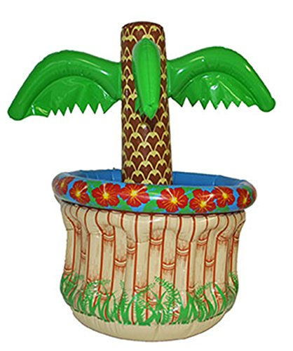 lasbare Palme Hoola Aloha Strandparty - hohe Deko Wanne Getränkekühlung, 65cm, Mehrfarbig (Kuba-kostüm Für Kinder)